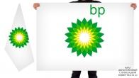 Двусторонний флаг BP