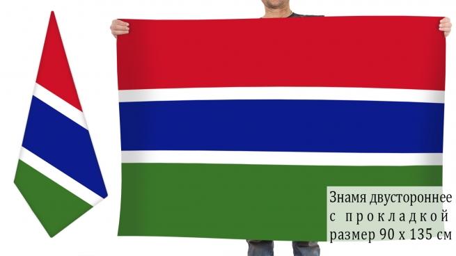 Двусторонний флаг Гамбии