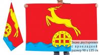 Двусторонний флаг Идринского района Красноярского края