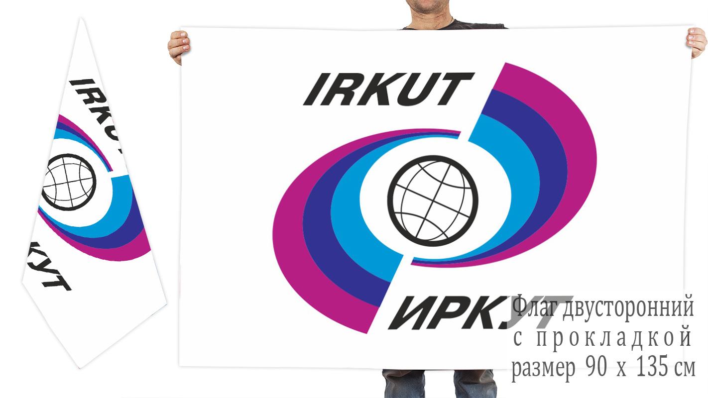 Двусторонний флаг Иркута