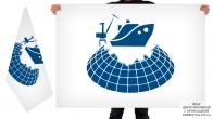 Двусторонний флаг международного форума Судостроение в Арктике