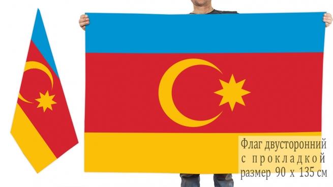 Двусторонний флаг Нахичеванской Автономной Республики