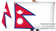 Двусторонний флаг Непала