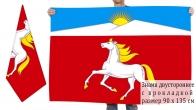 Двусторонний флаг Новосёловского района