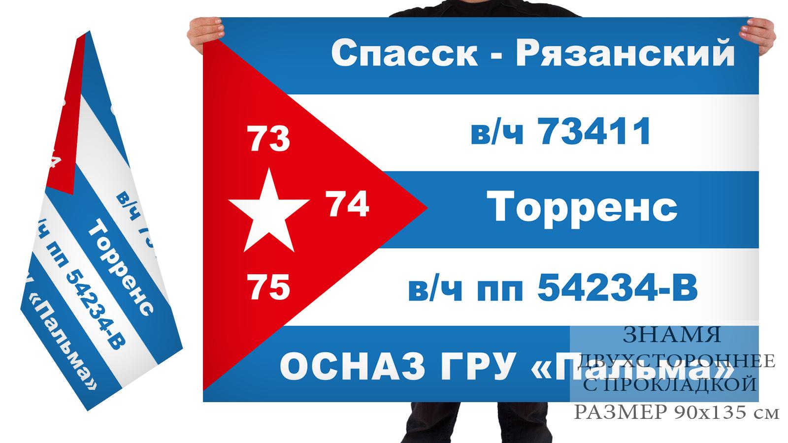 """Двусторонний флаг ОСНАЗ ГРУ """"Пальма"""""""