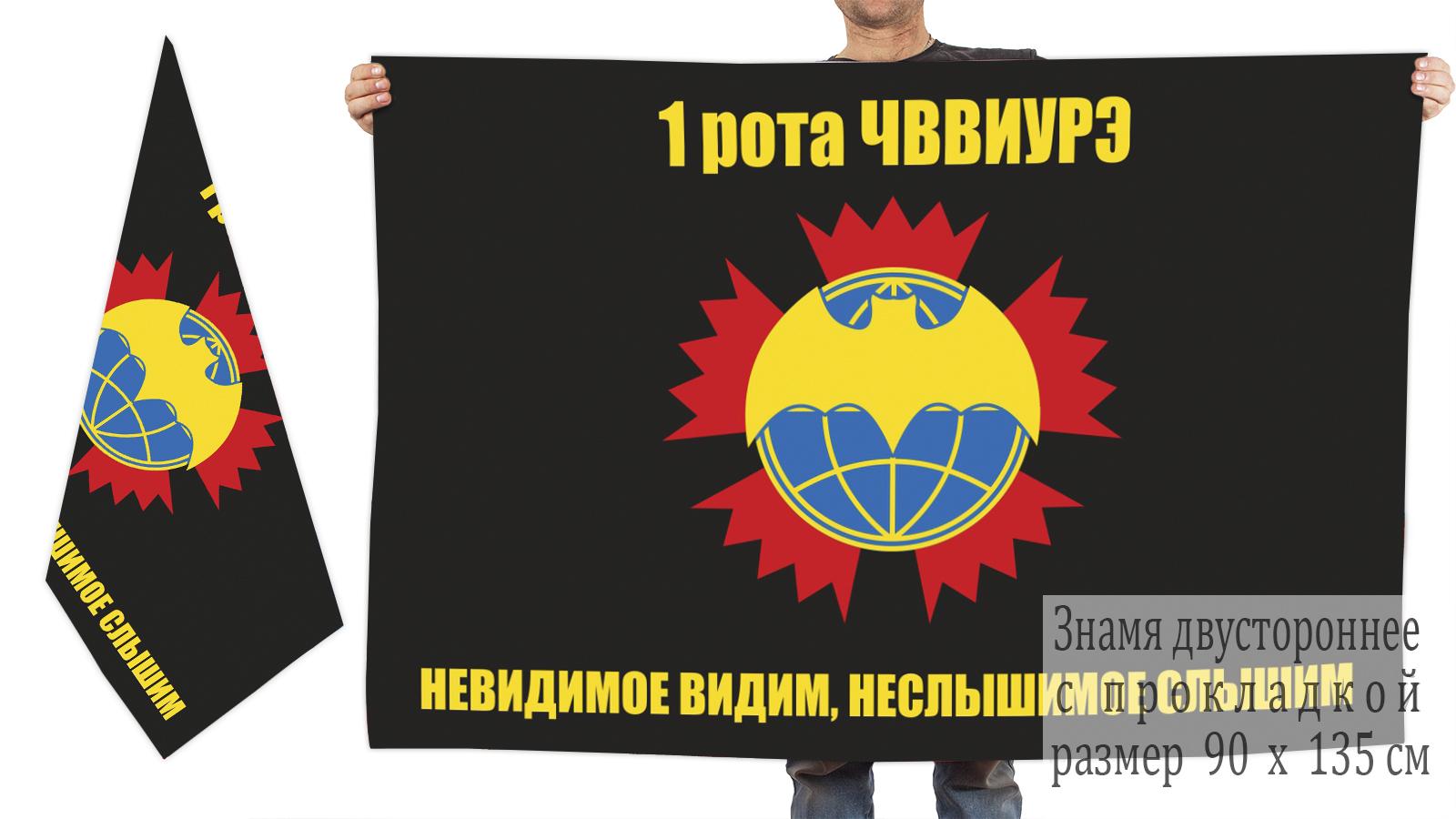 Двусторонний флаг ОСНАЗа ГРУ (1 рота ЧВВИУРЭ)