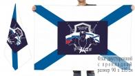 Двусторонний флаг роты охраны штаба 369 ЦОУФ Черноморского флота