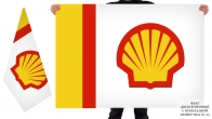 Двусторонний флаг Shell