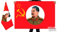 Двусторонний флаг Сталин
