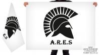 Двусторонний флаг ЦВСИ Ares