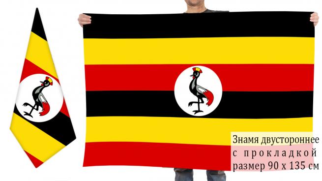 Двусторонний флаг Уганды
