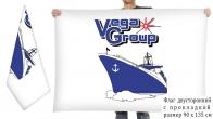 Двусторонний флаг Волжского судостроительно-судоремонтного завода