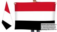 Двусторонний флаг Йемена