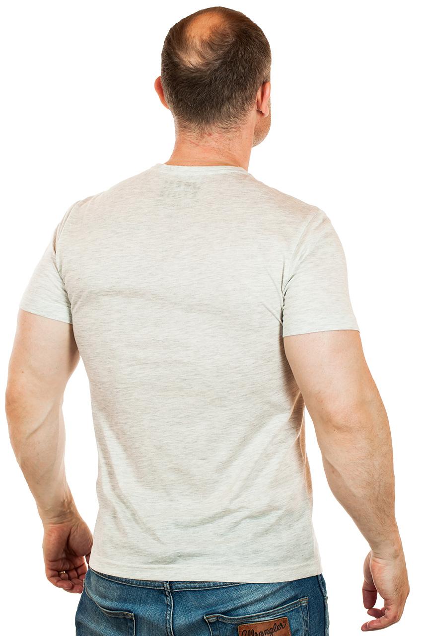 Дымчато-серая мужская футболка YMN в урбанистическом стиле. Идеально для города