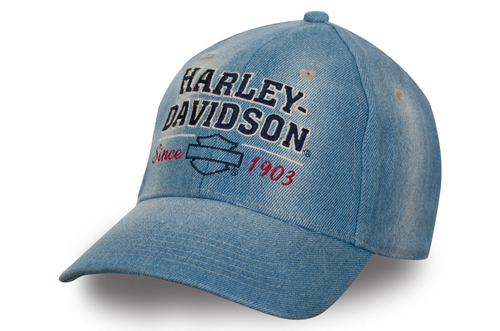 Джинсовая бейсболка Harley-Davidson - купить с доставкой