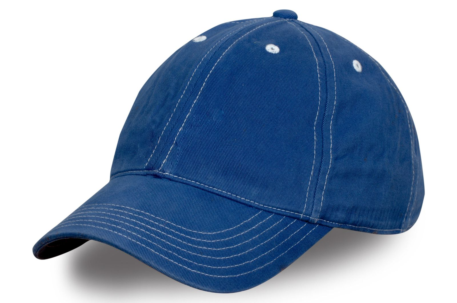 Джинсовая бейсболка синяя
