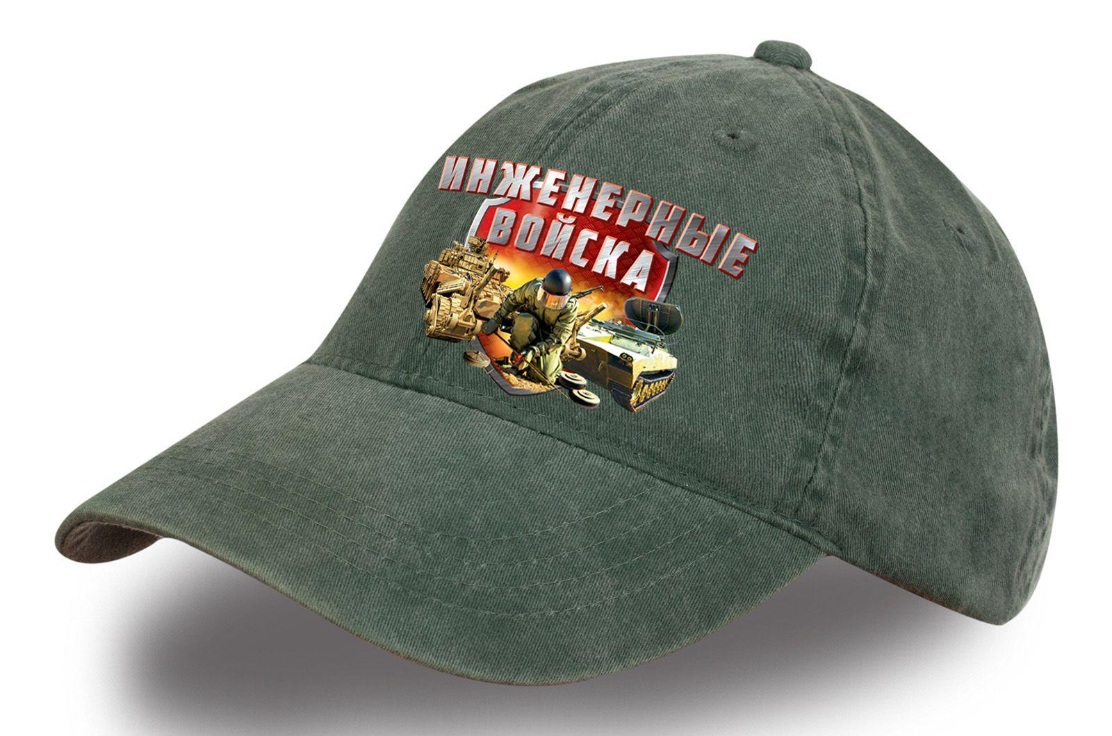 """Джинсовая кепка """"Инженерные войска"""" - купить онлайн недорого"""