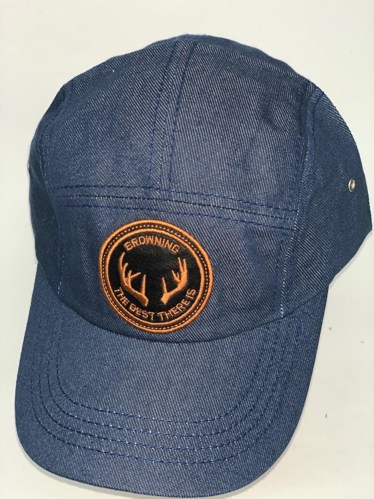 Джинсовая кепка-пятипанелька Browning с круглой вышивкой