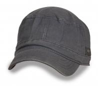 Джинсовая серая кепка-немка