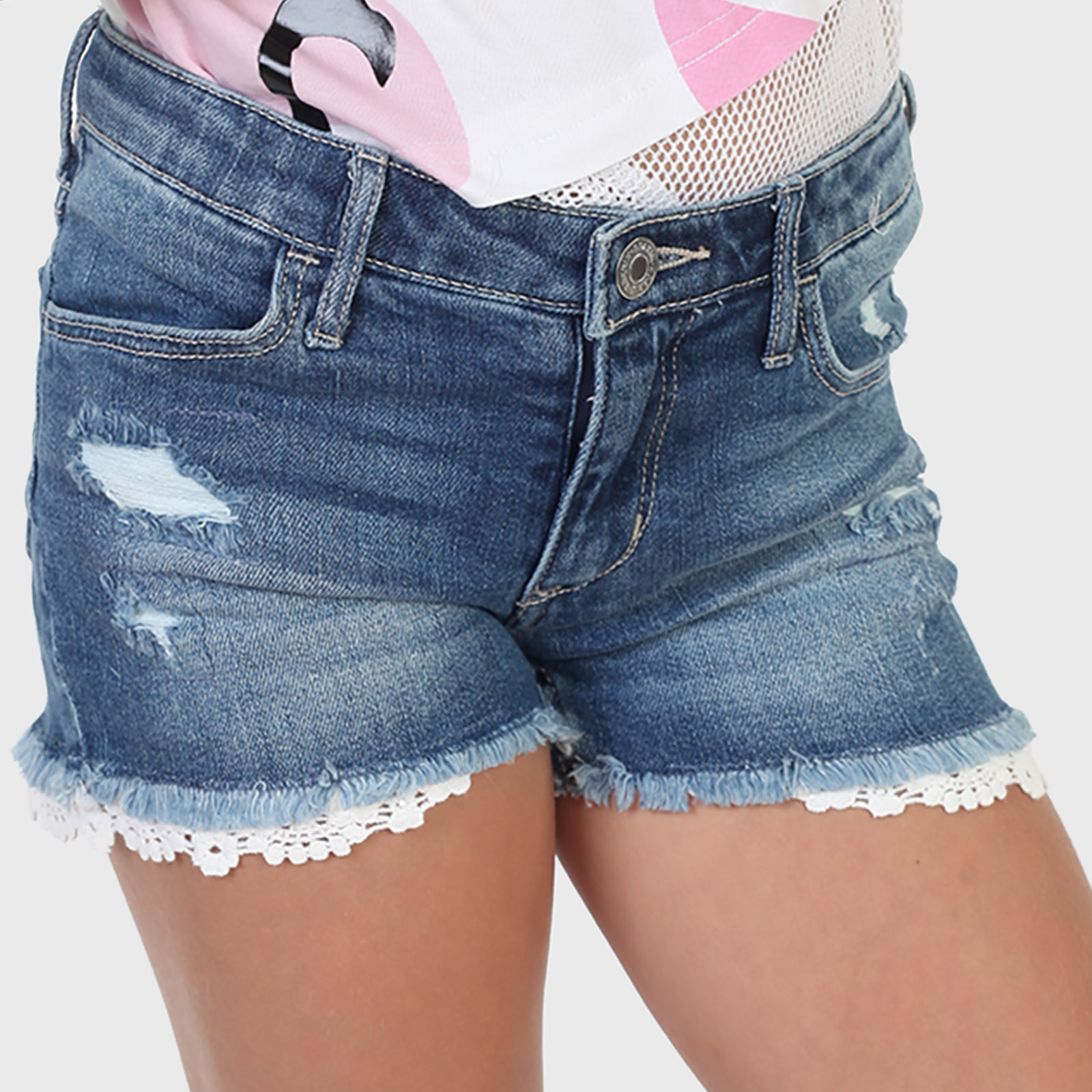 Купить в интернет магазине джинсовые шорты для девочки