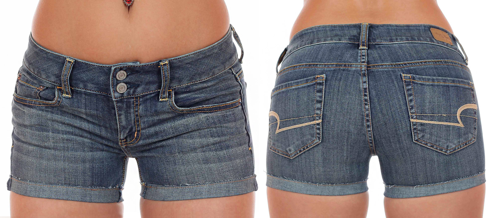 Джинсовые шорты с подворотом от дизайнеров American Eagle. Любимый фасон ЭМИЛИИ КЛАРК!