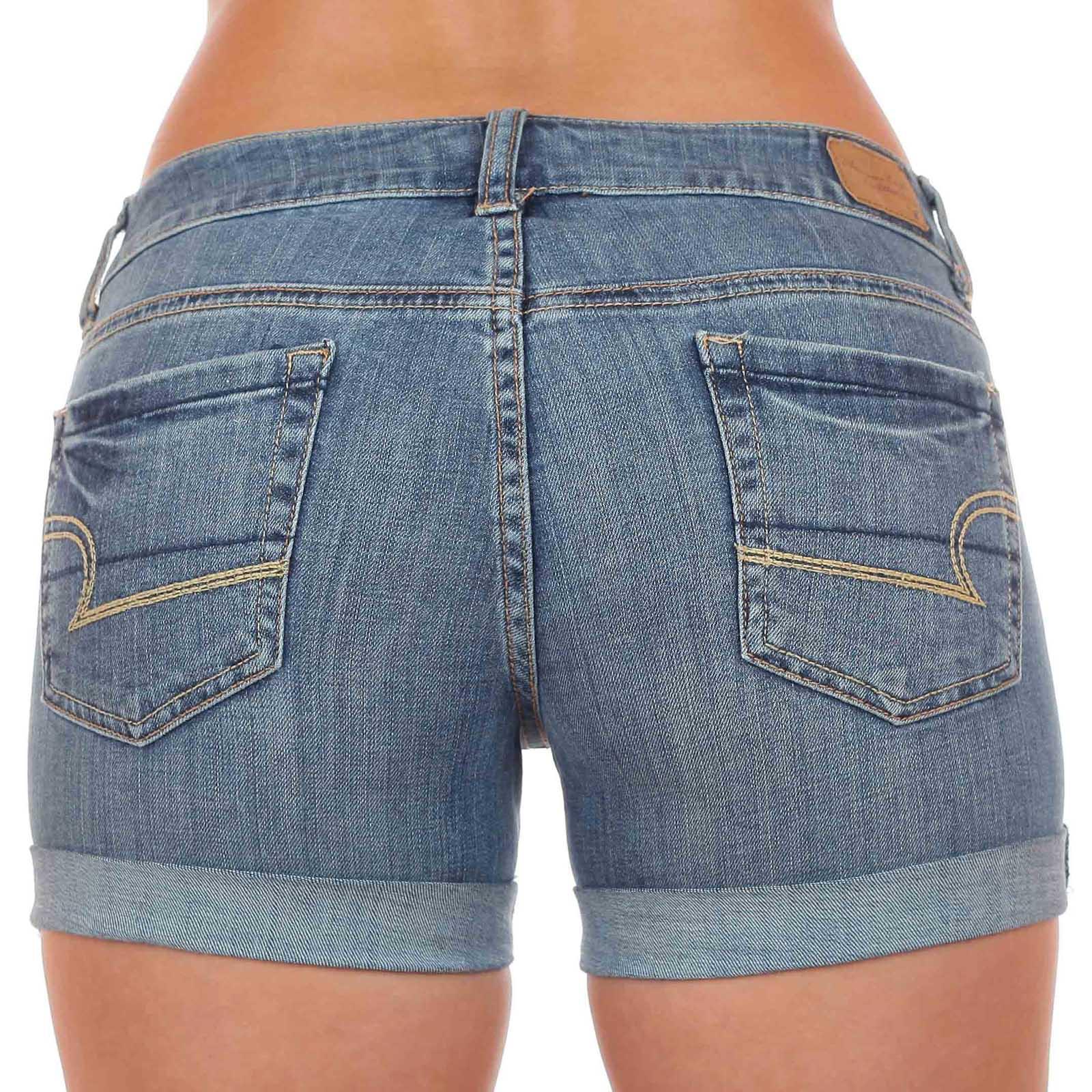 Джинсовые шортики для спортивной попки. Модный лук от бренда American Eagle (США). Сочетай с чем хочешь, носи куда хочешь!