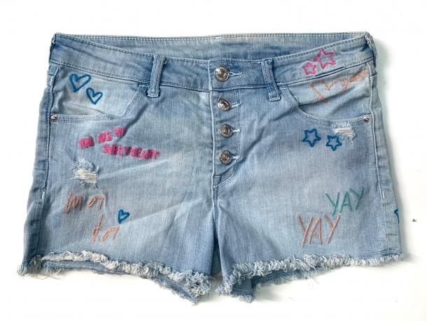 Джинсовые шорты для девочек подростков