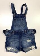 Джинсовые шорты-комбинезон детские