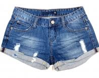 Джинсовые шорты женские с потертостями
