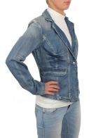 Джинсовый женский пиджак B.G. Приталенная модель из коллекции Haute couture. Двубортный фасон подойдет и к строгому платью, и к брюкам