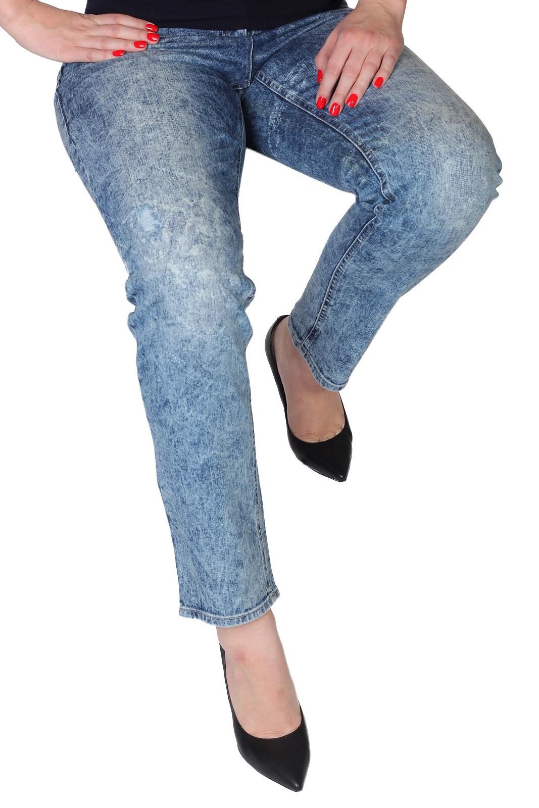 Женские джинсы варенки с вышивкой