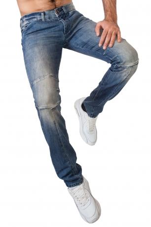 Крутые мужские джинсы с эффектом наколенников.