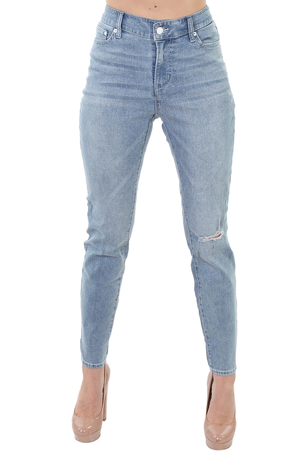 Купить голубые женские джинсы &Denim