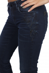 Роскошные женские джинсы L.M.V. с эффектом «делаве».