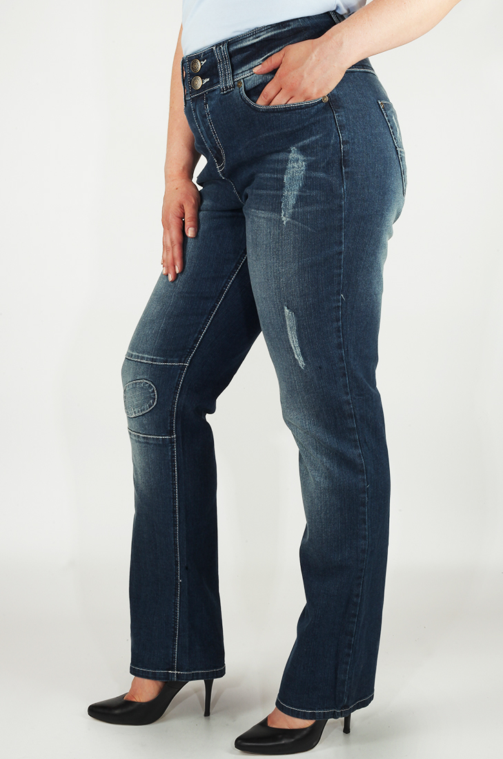 Джинсы с дизайнерскими заплатками от серьезного бренда Sheego®. Все большие размеры в наличии!