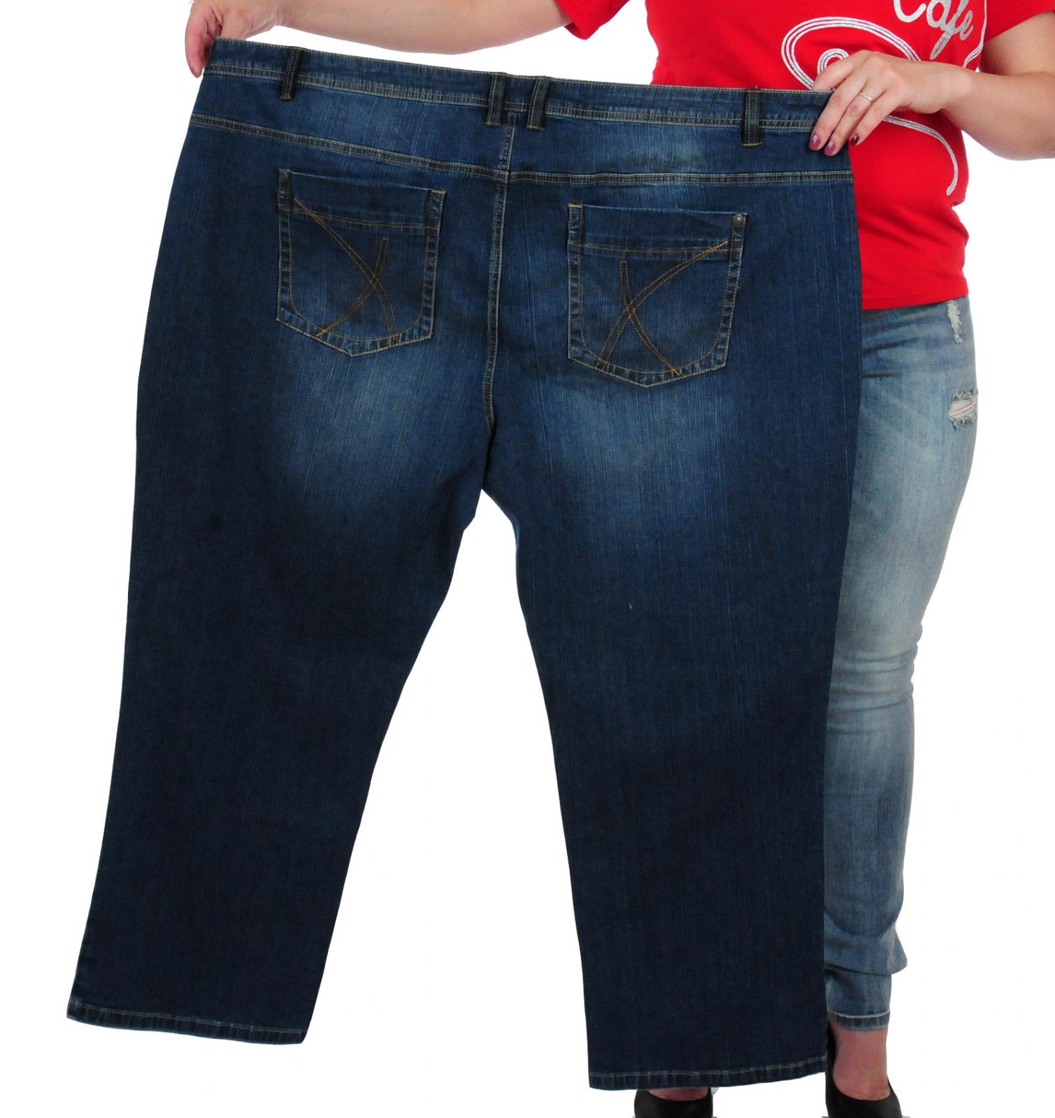 Купить жен джинсы большого размера
