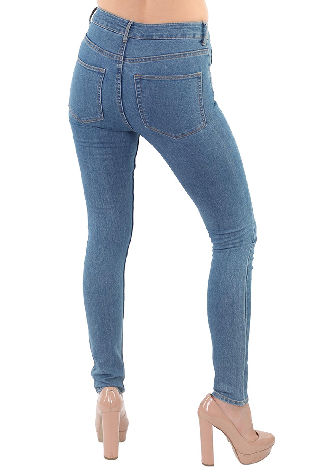 Женские джинсы скинни со стразами