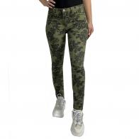 Эффектные женские джинсы VILA с цветочным принтом