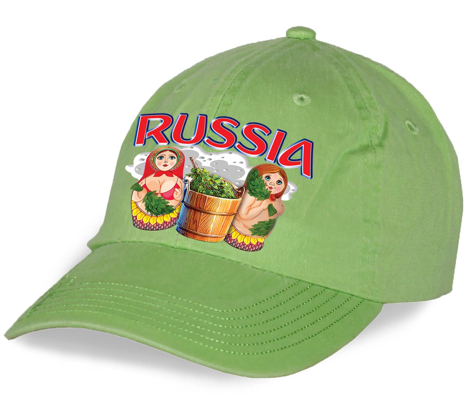"""Эффектная бейсболка """"Russia матрешки"""". Уникальная модель от дизайнера по привлекательной цене"""
