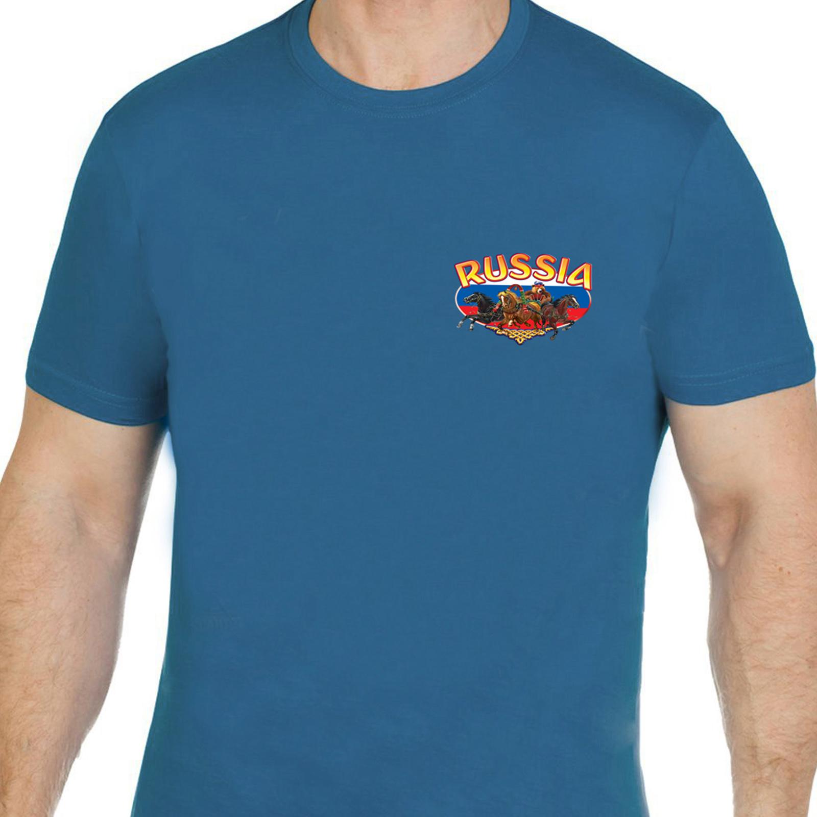 Эффектная мужская футболка Россия