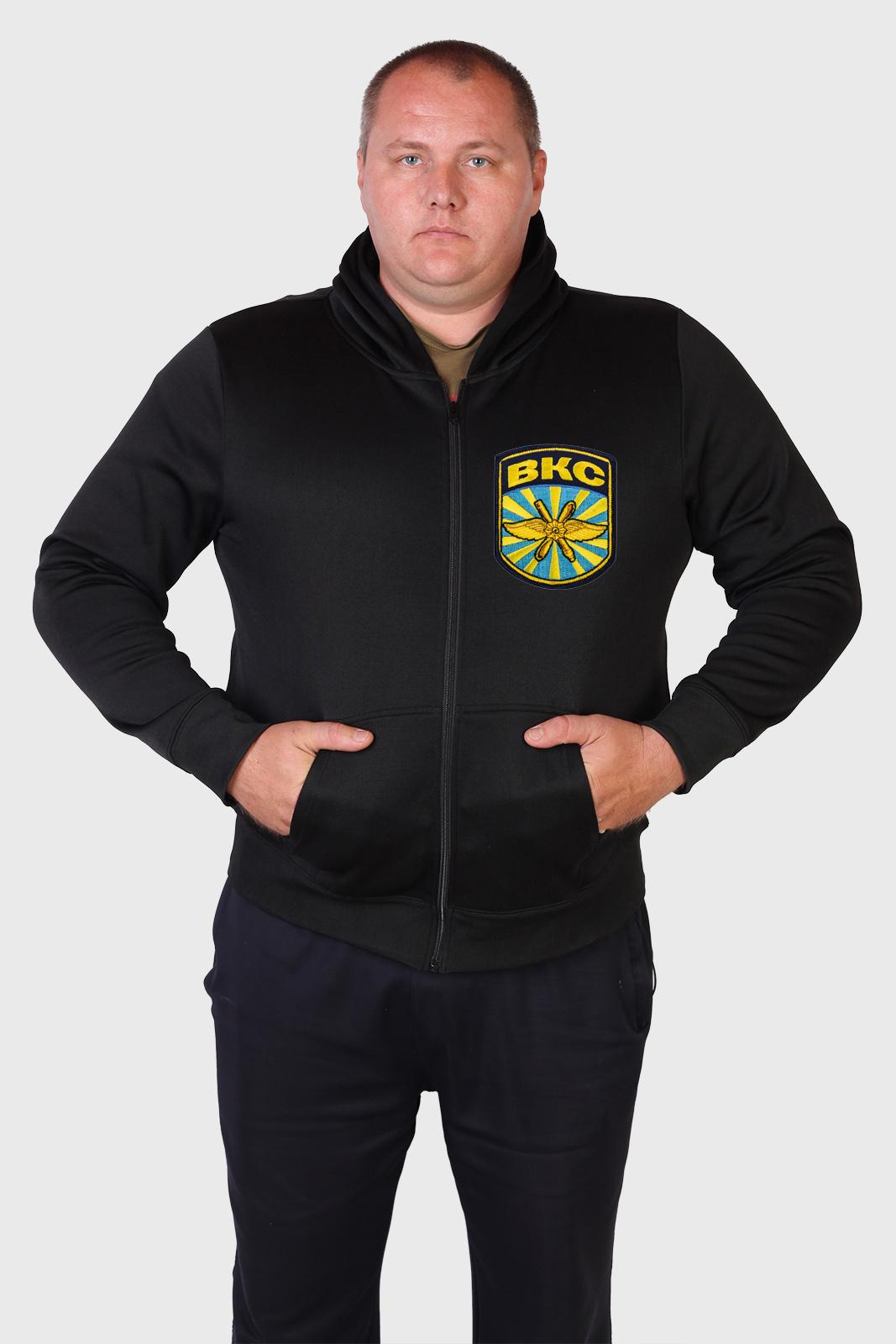 Мужская черная толстовка с эмблемой ВКС