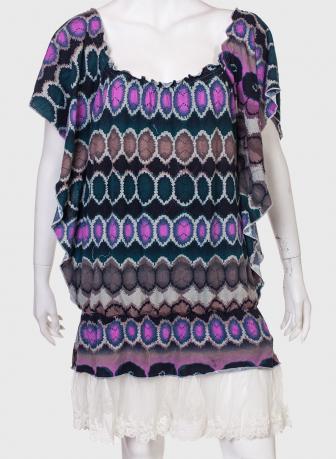 Эффектное платье с оборками