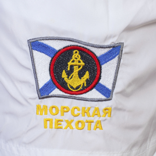Эффектные мужские шорты с шевроном ВМФ