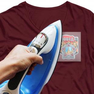 """Эффектный термотрансфер на футболку """"Победа"""""""