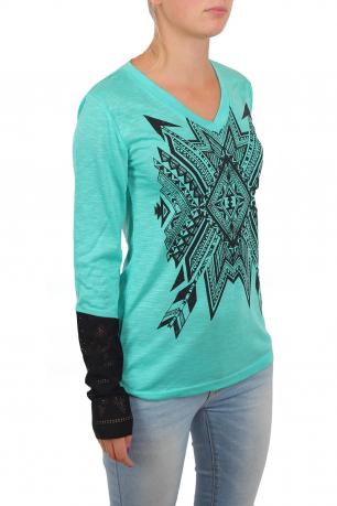 Эксклюзив! Реглан от ТМ Gruel с комбинированными ажурными рукавами. Стильно смотрится с джинсами и леггинсами, которые ты можешь купить в этом же каталоге!