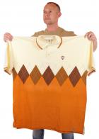 Эксклюзивная футболка поло (батал) от бренда BARE FOX