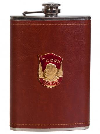 Эксклюзивная карманная фляжка с металлической накладкой Орден Ленина
