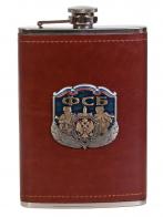 Эксклюзивная карманная фляжка с накладкой ФСБ