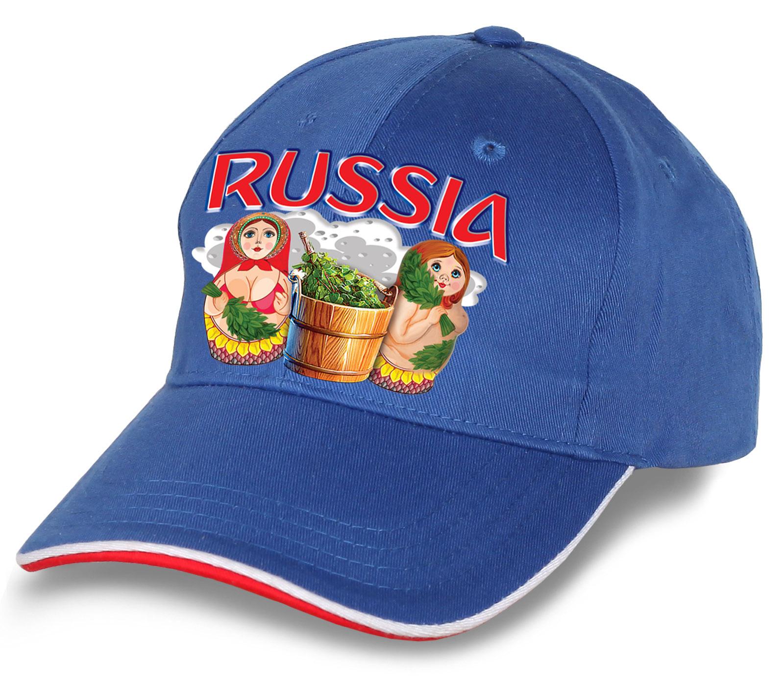 """Эксклюзивная кепка """"Russia матрешки"""" в оригинальном дизайне. Стильная модель безупречного качества. Незаменима для болельщиков и патриотов. Заказывай и носи с радостью!"""