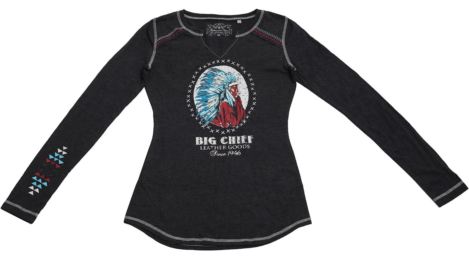 Эксклюзивная кофточка бренда Panhandle Slim с принтом индейского воина – «Великий вождь»